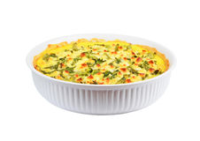 Pie with cheese, asparagus and herbs Royalty Free Stock Photos