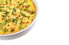 Pie with cheese, asparagus and herbs Royalty Free Stock Photo