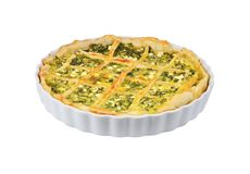 Pie with cheese and herbs Royalty Free Stock Image