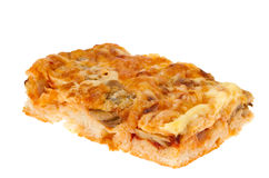 Pie with cheese and mushrooms Royalty Free Stock Photos