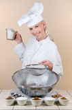 Pie Chef stock photography