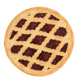 Pie with cherry jam royalty free stock photo