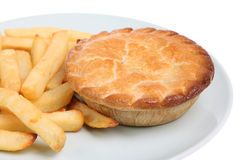 Pie & Chips Royalty Free Stock Image