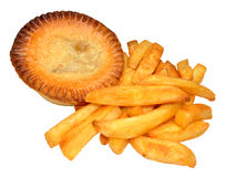 Pie And Chips Royalty Free Stock Image