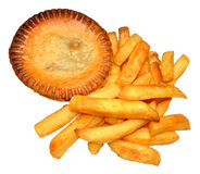 Pie And Chips Royalty Free Stock Images