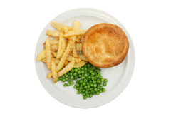Pie chips and peas Stock Photography