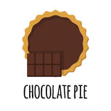 Pie with chocolate filling Stock Photos
