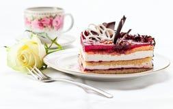 Pie with chocolate Stock Photo