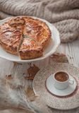 Pie and coffee royalty free stock photo