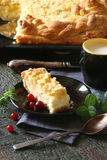 Pie with cottage cheese and strategem Stock Photography
