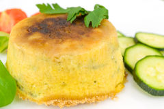 Pie with courgettes stuffed with ricotta cheese Stock Images