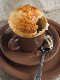 Pie in cup Stock Photography