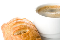 Pie and cup of coffee Stock Images