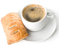 Pie and cup of coffee Royalty Free Stock Image