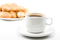 Pie and cup of coffee Stock Photo