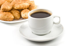 Pie and cup of coffee Royalty Free Stock Photos