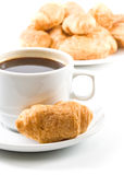 Pie and cup of coffee Stock Photography