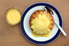 Pie and custard Royalty Free Stock Photos