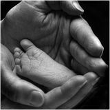 Pie de los recién nacidos Imagen de archivo libre de regalías