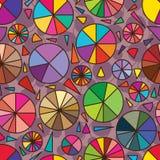 Pie decor seamless pattern Royalty Free Stock Photography