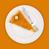 Pie on orange Royalty Free Stock Photo