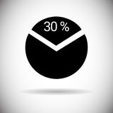Pie Diagram Chart Graph Percentage Web Icon. Flat Vector Illustration Stock Photography