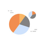 Pie Diagram Icon Colorful Financial Business Chart. Flat Vector Illustration Stock Photos