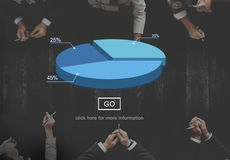 Pie Dough Graph Chart  Statistics Concept Royalty Free Stock Photos