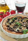 Pie with eggplants and pine nuts Royalty Free Stock Photo
