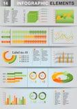 Pie för graf för INFOGRAPHIC-presentationsmall Arkivfoto