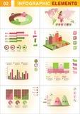 Pie för graf för INFOGRAPHIC-presentationsmall Royaltyfri Fotografi