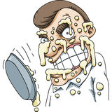 Pie in the Face Royalty Free Stock Photography