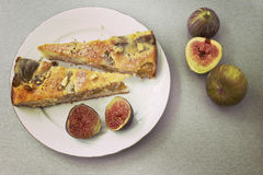 Pie with figs Royalty Free Stock Images