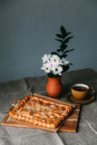 Pie and flower. Pies in the village. Yekaterinburg stock photos