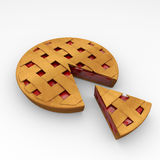 Pie. Food. 3d isolated Royalty Free Stock Photos