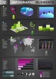 Pie för graf för INFOGRAPHIC-presentationsmall Royaltyfri Bild