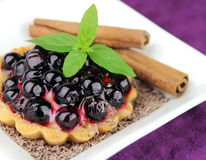 Pie with fresh berries Royalty Free Stock Photos