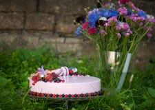 Pie with fresh berries Stock Image