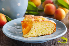 Pie with fresh peaches Stock Image