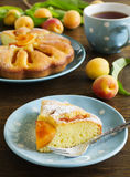 Pie with fresh peaches Stock Photography