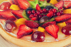 Pie with fruits and berries Stock Images