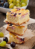 Pie with grapes Royalty Free Stock Image