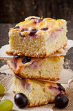 Pie with grapes Stock Image
