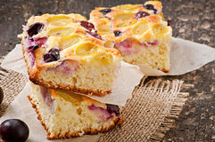 Pie with grapes Royalty Free Stock Images