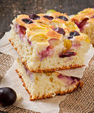 Pie with grapes Stock Images