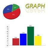 Pie graph Stock Photos