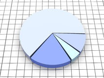 Pie graph. 3D rendered Illustration. Pie graph Stock Images