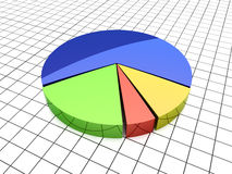 Pie graph. 3D rendered Illustration. Pie graph Stock Photos