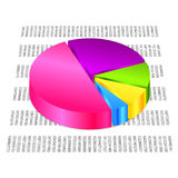 Pie graph. Vector 3d colorful pie graph Stock Photo