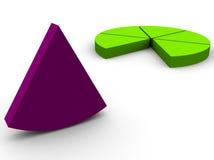 Pie graph. 3d pie graph render Stock Photo